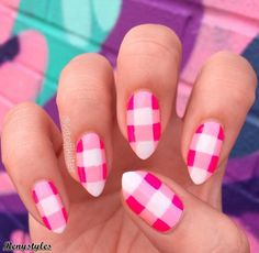 15+ Newest Checked Style Nail 2017 - Reny styles