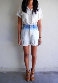 Ombre Lee Denim Shorts $68.00