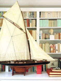 Best 46 J Class Endeavour Sailboat Wood Boat Model New