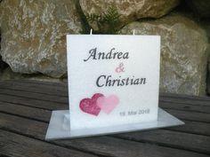 #Hochzeitskerze   #wedding #kerze #hochzeit #candle Place Cards, Place Card Holders, Christian, Wedding Day, Christians