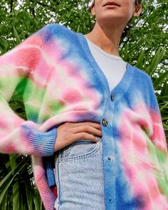 """NET-A-PORTER on Instagram: """"NOVELTY KNITS: Breathe new life into anything from denim to a simple T-shirt with mood-boosting knitwear 🌈 Tap the link in bio to shop at…"""""""