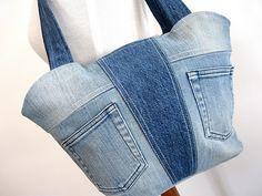 Great denim upcycled bag