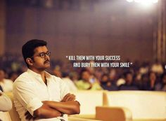 Damn Vijay.... Friend Quotes Distance, Filmy Quotes, Self Respect Quotes, Legend Quotes, Actor Quotes, Movie Love Quotes, Vijay Actor, Actors Images, Training Motivation