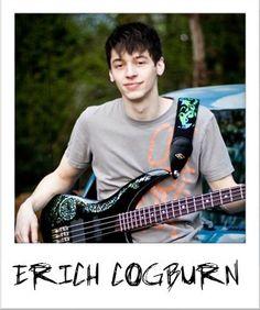 "Luna artist ""Erich Cogburn"" with his Andromeda Dragon bass guitar."