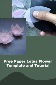 cricut paper flower making with free svg and printable templates Flower Svg, Flower Template, Flower Crafts, How To Make Paper Flowers, Paper Flowers Diy, Free Paper, Diy Paper, Paper Lotus, Lotus Flower Design