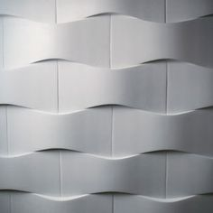 Advertise Here Friday, November 2009 Sculptural Concrete Tiles Lightweight concrete tiles that are beautiful and sculptural. They are made from Dexterity™ 3d Wall Tiles, Wall Tiles Design, Kitchen Wall Tiles, Tiles Uk, Pattern Texture, Diy Wood Wall, Prusa I3, 3d Cnc, 3d Wall Panels
