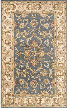 Oxford AWHS-2011 Teal/Beige Traditional Rug