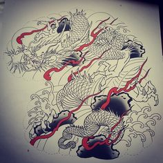 #winteriscoming so it's the perfect time to start a new tattoo project when it's easy to heal and finished to show off in summer. This #dragon #halfsleeve is up for grabs @greenlotustattoo message me here or email jbtattoo@live.com for more info. #asian_inkandart #asiantattoo #art #asianart #japaneseart #japanesetattoo #tattoo #tattoos #orientaltattoo #ink #asian #irezumi #wabori #horimono #tattooflash #japanesecollective #japanesetattoosub #melbournetattooist