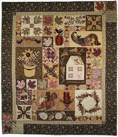Enchanted Autumn Art Quilt by Verna Mosquera