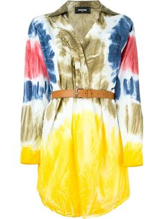 Dsquared2 tie-dye shirt dress, on sale here: rstyle.me/~8L1FO