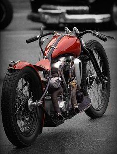 knuckle head motor, springer front end......Harley