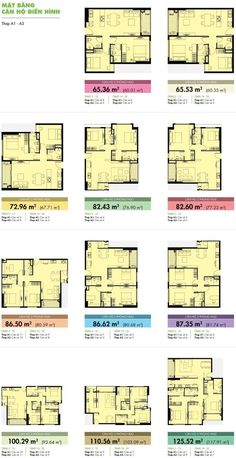 Mặt bằng căn hộ điển hình Tropic Garden Residential Building Plan, Residential Complex, Townhouse Apartments, Architectural Floor Plans, Family House Plans, Apartment Plans, Dormitory, Modern Architecture, How To Plan