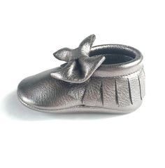 Gunmetal  AngelBabyMoccs // Angel Baby Moccasins // Angel Baby // Baby Moccs // Baby Moccasins // Leather Moccasins // Moccasins // Toddler Shoes // Baby Shoes // Baby Gladiators // Baby Shower // Baby Gifts // Soft Sole Shoes