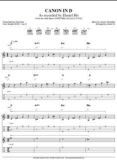 Pachabel's Canon in D for Ukulele Guitar Tabs Songs, Ukulele Chords Songs, Cool Ukulele, Music Tabs, Ukulele Tabs, Music Guitar, Music Lessons, Guitar Lessons, Guitar Tabs For Beginners