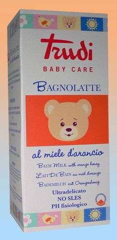 Bagnolatte Trudi Baby Care al miele d arancio 250 ml
