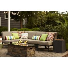 Shop Garden Treasures  Palm City 5-Piece Sectional Sofa at Lowe's Canada. Find our selection of outdoor conversation sets at the lowest price guaranteed with price match + 10% off.