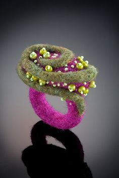 Shelley Jones Jewelry - Felt Ring, Mauve