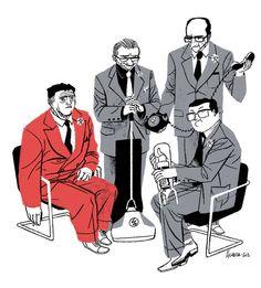 Invention convention | Illustrator: José Luis Ágreda ✤ || CHARACTER DESIGN REFERENCES | キャラクターデザイン | çizgi film • Find more at https://www.facebook.com/CharacterDesignReferences & http://www.pinterest.com/characterdesigh if you're looking for: bandes dessinées, dessin animé #animation #banda #desenhada #toons #manga #BD #historieta #sketch #how #to #draw #strip #fumetto #settei #fumetti #manhwa #anime #cartoni #animati #comics #cartoon || ✤
