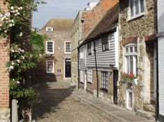 View of West Street, Rye, Sussex, England, Great Britain