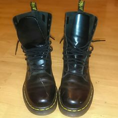 Authentic Dr Marten boots Black original Authentic Doc martens. These are trendy boots and they also last for years because of the good quality of the shoe you can wear these boots many different kinds of ways and they also run true to size Dr. Martens Shoes Combat & Moto Boots