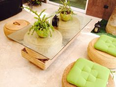 Sala para interior y exterior elaborada con llantas en desuso! Una manera creativa de contribuir al medio ambiente..