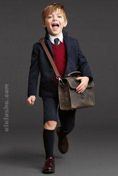 Dolce & Gabbana Kids Fall Winter We love that socks! Cute Kids Fashion, Little Boy Fashion, Toddler School Uniforms, Vogue Kids, Dolce And Gabbana Kids, Boys Wear, Little Fashionista, Stylish Kids, Kid Styles