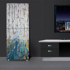 17.99 free shipping  Abstract-Art-Self-adhesive-PVC-FridgeWrap-Fridge-Door-Sticker-Wall-Mural-Decal