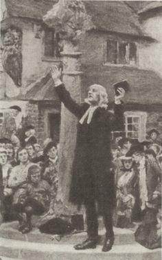 John Wesley Preaching in the Open-Air