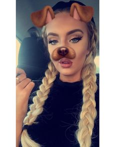 ♡ On Pinterest @ kitkatlovekesha ♡ ♡ Pin: Snapchat ~ Dog Filter ♡
