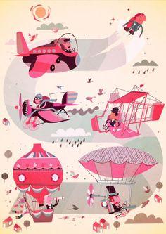 Illustrations by Steve Scott, via Behance