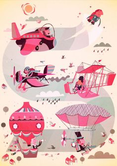 Illustrations by Steve Scott, via Behance