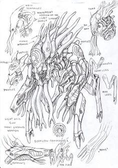 Glorlons by TugoDoomER on DeviantArt Alien Concept, Weapon Concept Art, Alien Creatures, Alien Art, Punk, Abstract Nature, Science Fiction, Fantasy Art, Pop Culture