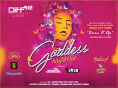 For all the gorgeous Goddess, a night exclusively for you at Diff 42. Look classy, put on your dancing shoes and get ready to dance the   night away. The bar is all yours...  For more info, contact: 044-43216667, 9842319191, 9842419191  #7, Opposite Vijaynagar Bus Terminus, Taramani Road, Velachery, Chennai  #Cocktail #Drinks #Dine #Party #Diff42 #RestoLoungeBar #Chennai #Ladiesnight #Goddessnight