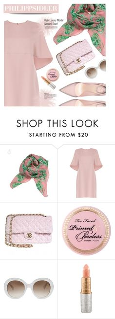"""""""PhilippSidler.com"""" by monmondefou ❤ liked on Polyvore featuring Valentino, Chanel, Gucci, Mariah Carey, scarf and philippsedler"""