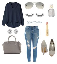 """""""Spring day"""" by glammuffin on Polyvore featuring Frame Denim, Lulu*s, MICHAEL Michael Kors, Michael Kors, Napoleon Perdis, Essie, Ray-Ban, women's clothing, women and female"""