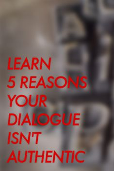 These tips will help your write better dialogue.