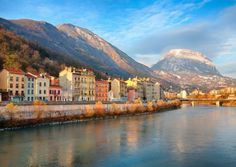 Head to Grenoble in Auvergne-Rhône-Alpes and admire the dramatic scenery thanks to the mountains © Sabine Klein / Fotolia Destinations, City Architecture, Rhone, France Travel, Small Towns, Paris France, Scenery, Explore, Mountains