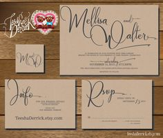 Printable Wedding Invitation Suite w0290 consists by TeeshaDerrick