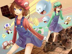 Tags: Anime, Fanart, Wallpaper, Nintendo, Super Mario Bros.