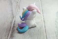 Figura Unicornio Chibi Arcilla polimérica FIMO por LudikCrafts