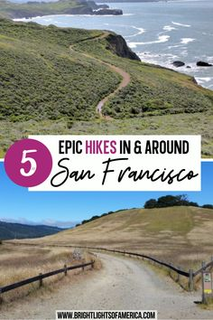 Get outside on one of these 5 epic hiking trails close to San Francisco! Don't miss the views and natural beauty that San Francisco and the Bay Area has to offer. San Francisco hikes | Bay Area hikes | Hikes near San Francisco | Best hikes in San Francisco | Northern California hikes | Bay Area hiking trails California Destinations, California Travel, Travel Destinations, Northern California, San Francisco Hikes, San Francisco Travel, Canada Travel, Travel Usa, Travel Tips