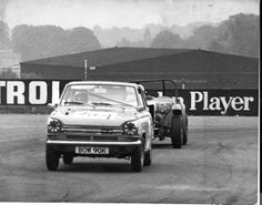 Our DAF 55 Marathon Car in the 8 hour Relay Race at Thruxton in 1972