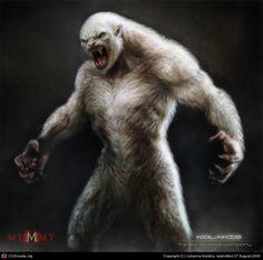 Yeti by Julianna Kolakis Mythological Creatures, Fantasy Creatures, Mythical Creatures, Snow Monster, Monster Art, Monster Concept Art, Fantasy Monster, Creature Concept Art, Creature Design