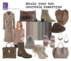 """""""Bruin voor het neutrale zomertype. Brown for a soft summer.""""By Margriet Roorda-Faber, Style Consulting."""