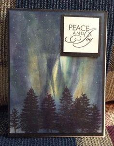 Northern lights Christmas Card