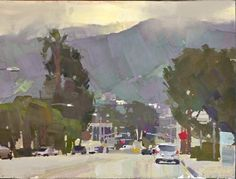 Mike Hernandez Grandview and San Fernando Rd Burbank gouache Casein Paint, Art Easel, Poster Colour, Landscape Paintings, Landscapes, Gouache Painting, Tempera, Art Studies, Medium Art