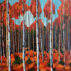 Jenn is a Philadelphia Artist painting trees and gardens, landscapes, and still lifes with oil paint. Forest Painting, Artist Painting, Painting Trees, Paintings I Love, Original Paintings, Original Art, Birch Forest, Birch Trees, Oil On Canvas