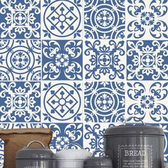 Azulejos Portugueses monocromáticos (Pack de 30)