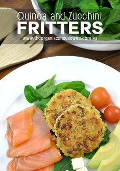 {The Organised Housewife} Quinoa and Zuchhini Fritters, super yummy and healthy. Quinoa Recipes Easy, Whole Food Recipes, Cooking Recipes, Healthy Recipes, Vegetarian Cooking, Healthy Light Dinners, Zucchini Fritters, Zucchini Muffins, Organised Housewife