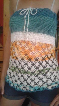 Chrochet, Crochet Top, Projects, Women, Fashion, Crochet Hooks, Log Projects, Ganchillo, Moda